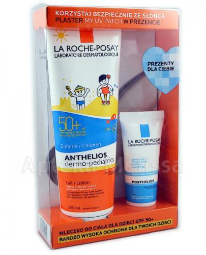 LA ROCHE-POSAY ANTHELIOS Mleczko do ciała dla dzieci - 250 ml + POSTHELIOS Aksamitny żel nawilżający po opalaniu - 40 ml - Apteka internetowa Melissa
