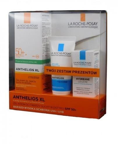 LA ROCHE-POSAY ANTHELIOS XL Żel-krem do twarzy przeciw błyszczeniu się matujący SPF50+ - 50 ml + Posthelios Żel po opalaniu 40 ml + Hydreane 15 ml GRATIS KOFRET  - Apteka internetowa Melissa