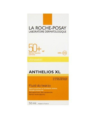 LA ROCHE ANTHELIOS XL Ultralekki fluid do twarzy SPF50+ - 50 ml - Apteka internetowa Melissa