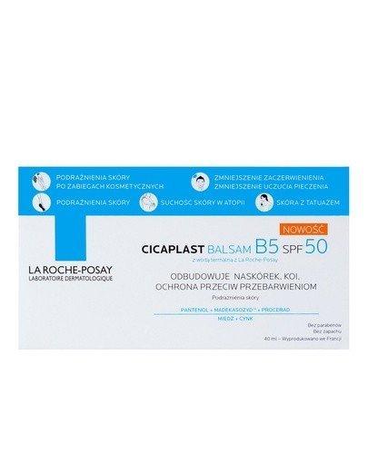 LA ROCHE-POSAY CICAPLAST BALSAM B5 SPF50 kojący balsam regenerujący z filtrem - 40 ml