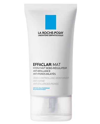 LA ROCHE-POSAY EFFACLAR MAT Seboregulujący krem przeciw błyszczeniu skóry - 40 ml + EFFACLAR Żel oczyszczający 50 ml - Drogeria Melissa