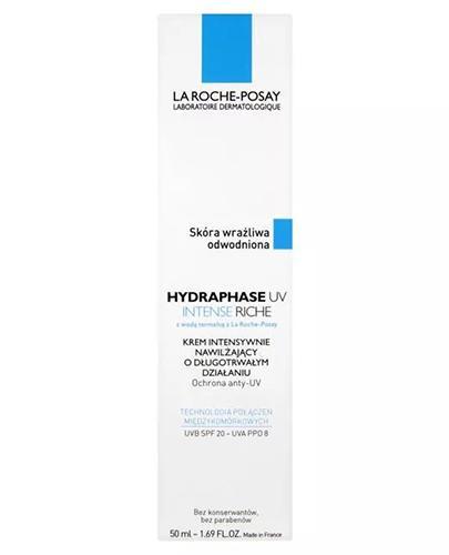 LA ROCHE-POSAY HYDRAPHASE INTENSE UV RICHE Krem intensywnie nawilżający z ochroną SPF20 - 50 ml - Apteka internetowa Melissa