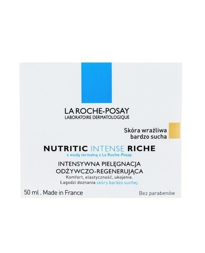 LA ROCHE-POSAY NUTRITIC INTENSE RICHE Intensywna pielęgnacja odżywczo-regenerująca dla skóry bardzo suchej - 50 ml - Apteka internetowa Melissa
