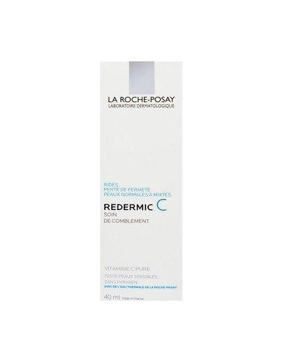 LA ROCHE-POSAY REDERMIC C Intensywnie nawilżająca i ujędrniająca pielęgnacja przeciwzmarszczkowa dla skóry normalnej i mieszanej - 40 ml