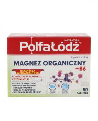 LABORATORIA POLFA ŁÓDŹ Magnez organiczny + B6 - 50 tabl. - Apteka internetowa Melissa