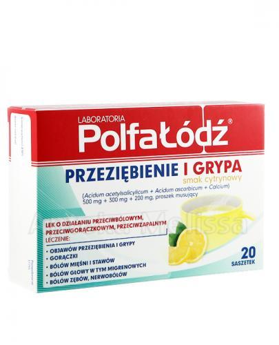 POLFA ŁÓDŹ Przeziębienie i Grypa, smak cytrynowy - 20 sasz. - Apteka internetowa Melissa