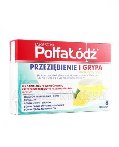 LABORATORIA POLFA ŁÓDŹ Przeziębienie i Grypa, smak cytrynowy - 8 sasz.