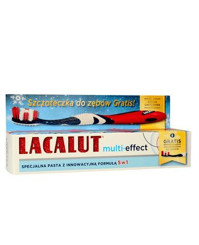 Lacalut Multi-effect Specjalna pasta z innowacyjną formułą 5w1 - 75 ml + Szczoteczka do zębów - 1 szt. - cena, opinie, stosowanie  - Apteka internetowa Melissa