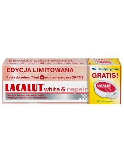 LACALUT WHITE&REPAIR Pasta do zębów + nić dentystyczna - 1 zestaw - Apteka internetowa Melissa