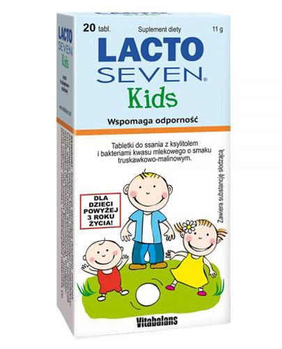 LACTOSEVEN KIDS Tabletki do ssania o smaku truskawkowo-malinowym - 20 tabl. - Apteka internetowa Melissa
