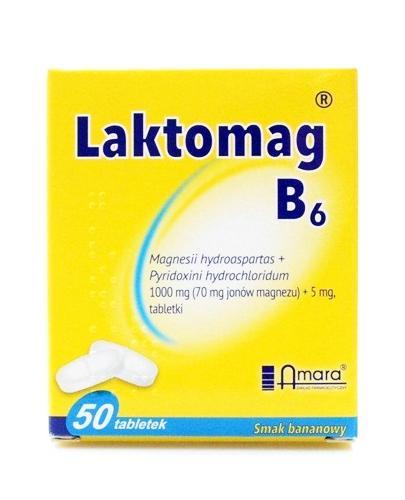 LAKTOMAG B6 - 50 tabl. Lek uzupełniający poziom magnezu i witaminy B6. - Apteka internetowa Melissa