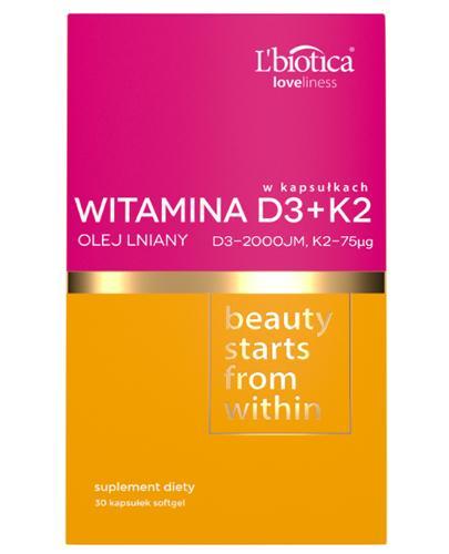 L'biotica Loveliness Witamina D3 + K2 - 30 kaps. - cena, opinie, właściwości  - Drogeria Melissa