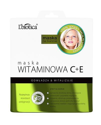 LBIOTICA Maska witaminowa C+E na tkaninie - 23 ml  - Apteka internetowa Melissa