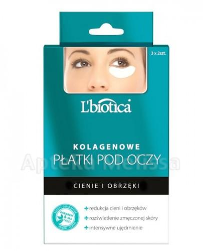LBIOTICA Kolagenowe płatki pod oczy redukujące cienie i obrzęki - 3 x 2 szt.  - Apteka internetowa Melissa