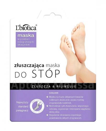 LBIOTICA Złuszczająca maska do stóp w postaci nasączonych skarpetek - 40 ml + Parafinowy zabieg do stóp GRATIS! - Apteka internetowa Melissa