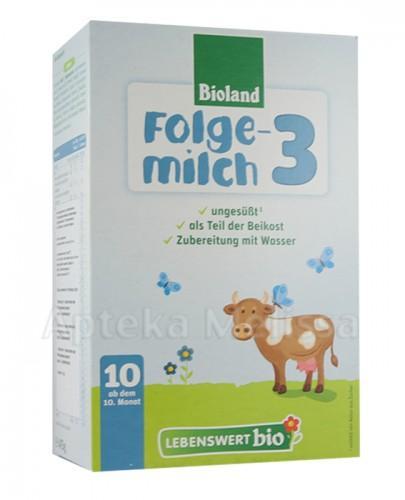LEBENSWERT BIO  Mleko 3 dla niemowląt od 10 m-ca -  475 g - Apteka internetowa Melissa