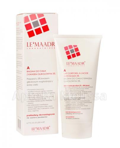 LE'MAADR A Balsam do ciała z kwasem glikolowym 3% - 200 ml (Lemaadr)