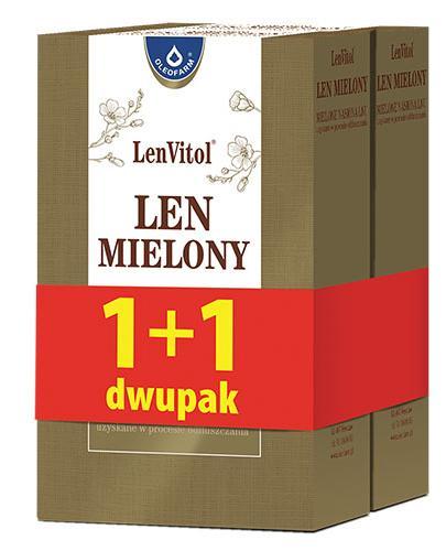 LEN MIELONY Mielone nasiona lnu uzyskane w procesie odtłuszczania - 200 g + 200 g - Apteka internetowa Melissa