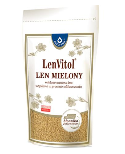 LEN MIELONY Mielone nasiona lnu uzyskane w procesie odtłuszczania - 450 g - Drogeria Melissa