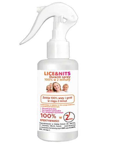 Lice & Nits Ducenti Spray likwidujący wszy i gnidy w  ciągu 2 minut - 120 ml - cena, opinie, skład - Drogeria Melissa
