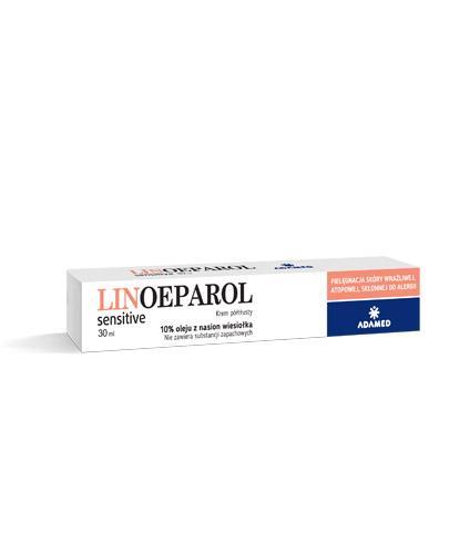 LINOEPAROL SENSITIVE Krem -  30 ml - na odparzenia i otarcia naskórka - cena, stosowanie, opinie