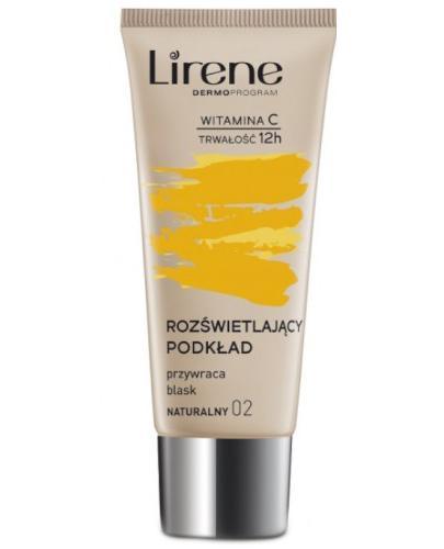 LIRENE Fluid rozświetlający z witaminą duo C 02 naturalny - 30 ml Do makijażu twarzy - cena, opinie, zastosowanie  - Drogeria Melissa