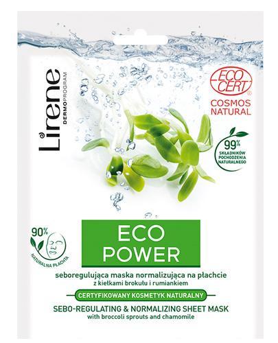 LIRENE Maska normalizująca Eco Power - 25 g - cena, stosowanie, opinie