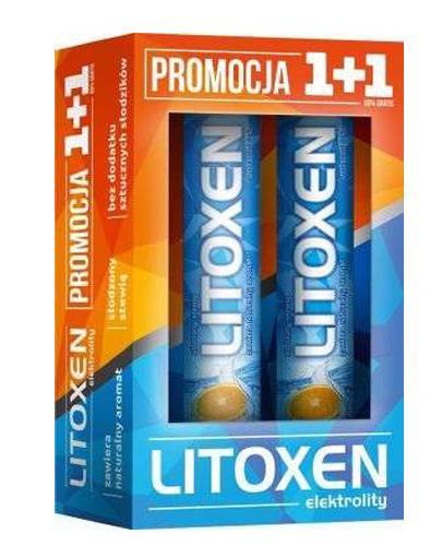 LITOXEN Elektrolity - 2 x 20 tabl. mus. Nawodnienie i mineralizacja organizmu. - Apteka internetowa Melissa
