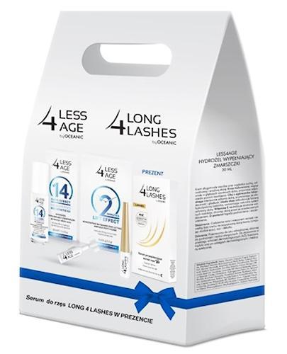 LESS 4 AGE ZESTAW Hydrożel wypełniający zmarszczki + Koncentrat liftingujący + Serum do rzęs - 30 ml + 2,5 g + 3 ml - Apteka internetowa Melissa