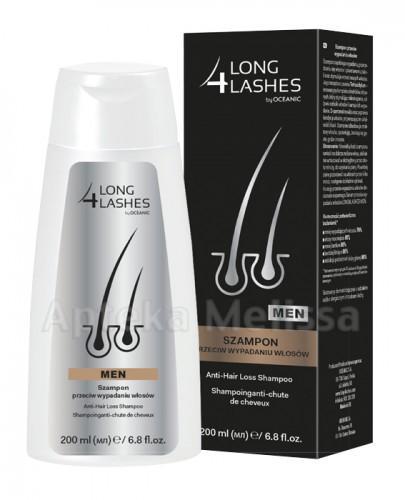 LONG 4 LASHES MEN Szampon przeciw wypadaniu włosów - 200 ml - Apteka internetowa Melissa