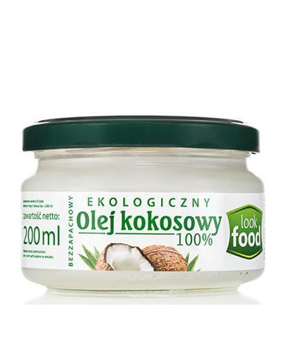 LOOK FOOD Olej kokosowy rafinowany - 200 ml Data ważności: 2020.05.31 - Apteka internetowa Melissa
