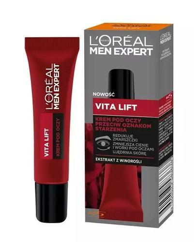 L'Oreal Men Expert Vita Lift Krem pod oczy przeciw oznakom starzenia - 15 ml Krem pod oczy dla mężczyzn - cena, opinie, właściwości  - Apteka internetowa Melissa