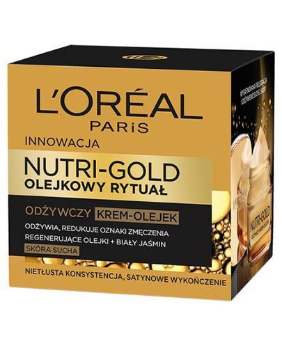 L'OREAL NUTRI GOLD OLEJKOWY RYTUAŁ Odżywczy krem-olejek do twarzy do skóry suchej - 50 ml - Apteka internetowa Melissa