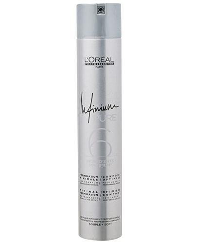 L'Oréal Professionnel Paris Infinium Pure 6 Profesjonalny lakier do włosów Soft - 500 ml - cena, opinie, właściwości