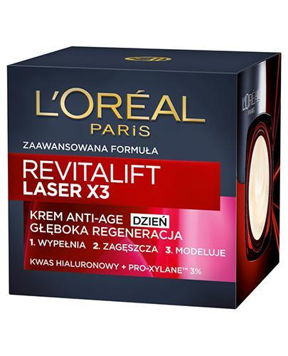 L'OREAL REVITALIFT LASER X3 Krem Anti Age na dzień terapia regenerująca - 50 ml