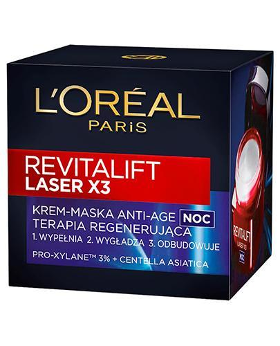L'OREAL REVITALIFT LASER X3 Krem-maska Anti Age na noc terapia regenerująca - 50 ml