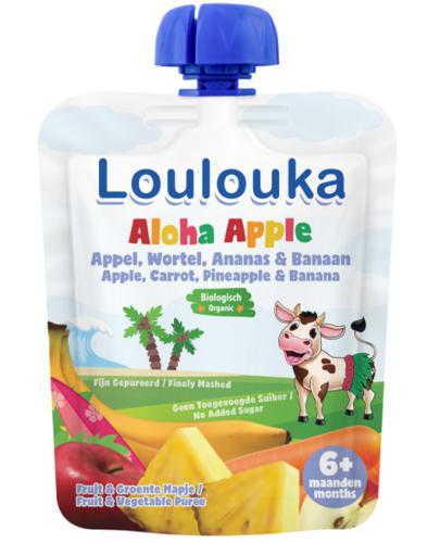 Loulouka Aloha Apple Mus owocowy - 90 g - cena, opinie, stosowanie - Drogeria Melissa