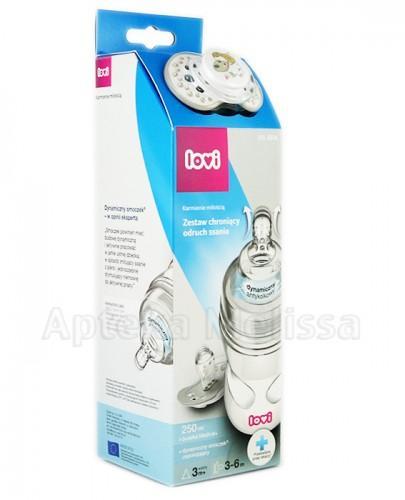 LOVI MEDICAL+ Butelka - 250 ml + LOVI Dynamiczny smoczek uspokajający 3-6 m-cy - 1 szt. - Apteka internetowa Melissa