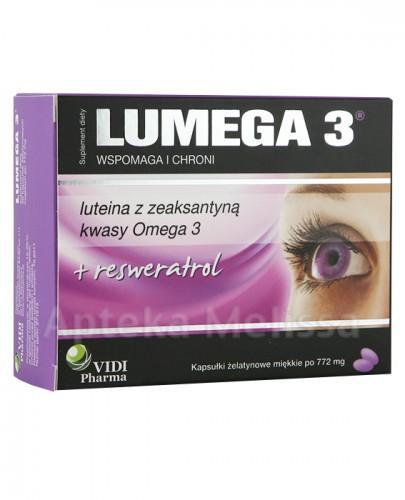 LUMEGA 3 Wspomaga i chroni oczy - 30 kaps.