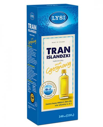 LYSI Tran Islandzki smak cytrynowy - 240 ml - Apteka internetowa Melissa