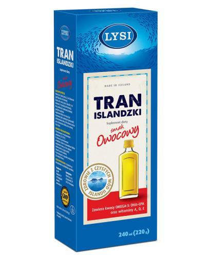 LYSI Tran Islandzki smak owocowy - 240 ml - Apteka internetowa Melissa