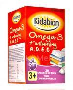 KIDABION Omega-3 o smaku czarnej porzeczki - 30 kaps. - Apteka internetowa Melissa