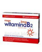 MEGA WITAMINA B2 3 mg - 50 tabl. - Apteka internetowa Melissa