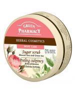 GREEN PHARMACY Peeling cukrowy róża piżmowa i zielona herbata - 300 ml - Apteka internetowa Melissa