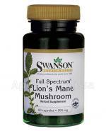 SWANSON Full Spectrum Lion's Mane Muschroom - 60 kaps. - Apteka internetowa Melissa