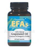 SWANSON Grapeseed oil 500 mg - 60 kaps. Data ważności: 2018.07.30 - Apteka internetowa Melissa
