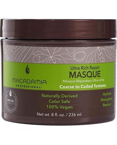 Macadamia Professional Ultra Rich Repair Odżywcza nawilżająca intensywna maska do włosów - 236 ml - cena, opinie, stosowanie