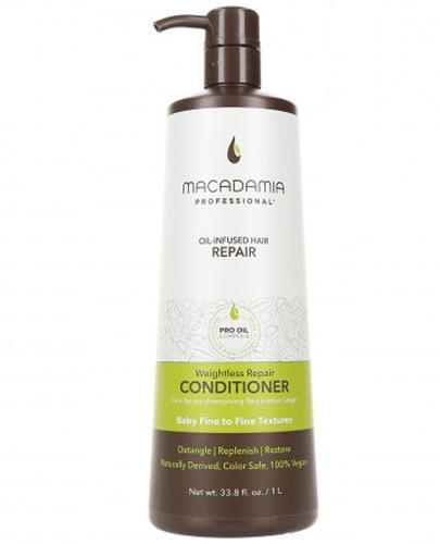 Macadamia Professional Weightless Nawilżająca odżywka do włosów cienkich - 1000 ml - cena, opinie, właściwości - Drogeria Melissa