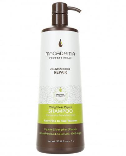 Macadamia Professional Weightless Nawilżający szampon do włosów cienkich - 1000 ml - cena, opinie, wlaściwości