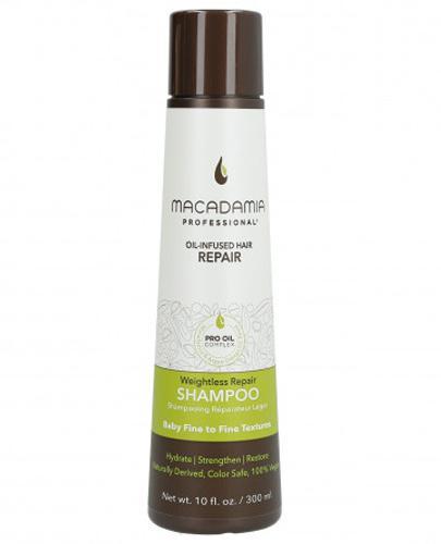 Macadamia Professional Weightless Nawilżający szampon do włosów cienkich - 300 ml - cena, opinie, wlaściwości